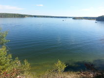 Michigan water. Wind rippling water on a beautiful day royalty free stock photo