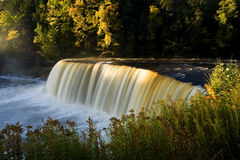 Michigan Waterfall In Autumn Stock Images
