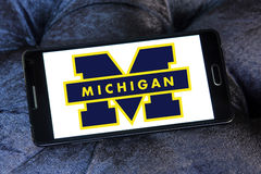 Michigan Wolverines american football team logo Stock Image