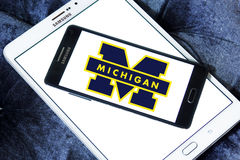 Michigan Wolverines american football team logo Royalty Free Stock Photos