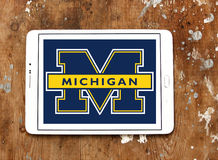 Michigan Wolverines american football team logo Stock Photos