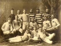 Michigan Wolverines i 1888 Arkivfoto