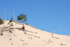 Michigansee-Dünen stockfotografie
