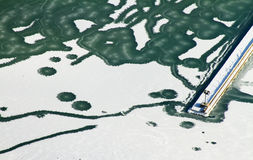 Michigansee eingefroren Lizenzfreie Stockfotos