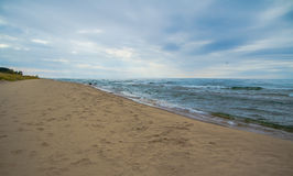 Michigansee-Horizont lizenzfreies stockfoto