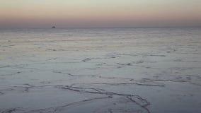 Michigansee im Dezember stock footage