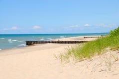 Michigansee-Küstenlinie stockbilder