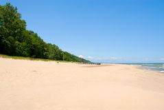 Michigansee-Küstenlinie stockfoto
