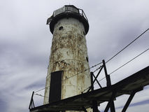 Michigansee-Leuchtturm im blauen Himmel lizenzfreies stockbild