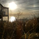 Michiganseesonnenuntergang Lizenzfreie Stockfotografie