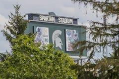 Michiganuniversitet Spartan Stadium royaltyfri foto