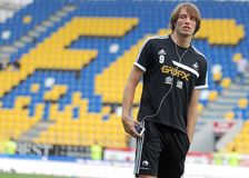 Michu in Petrolul Ploiesti-Swansea FC Royalty Free Stock Photo