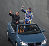 Mick Doohan (AUS) and Travis Pastrana (USA) Stock Images