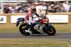 Mick Doohan riding honda fireblade Stock Image