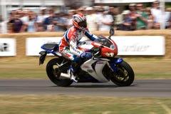 Doohan riding honda fireblade. At Goodwood Festival of Speed stock image
