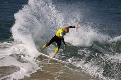 Mick Fanning. World surfing circuit in Portugal Royalty Free Stock Images