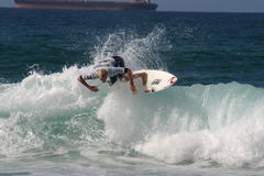 Fanning - Current World Number 1 Men's Professional Surfer Royalty Free Stock Image