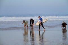 Mick Fanning entrant dans l'eau Photo libre de droits