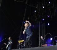 Mick hucknall στη συναυλία στο doncaster Στοκ Φωτογραφίες