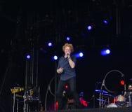 Mick hucknall στη συναυλία στο doncaster Στοκ εικόνες με δικαίωμα ελεύθερης χρήσης