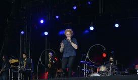 Mick hucknall στη συναυλία Στοκ φωτογραφία με δικαίωμα ελεύθερης χρήσης