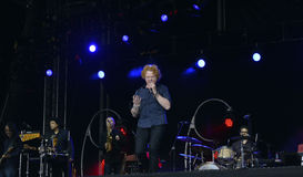 Mick hucknall in concert Royalty Free Stock Photo