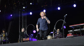 Mick hucknall in concert at doncaster Royalty Free Stock Photography