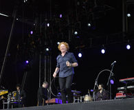 Mick hucknall in concert at doncaster Stock Image