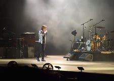 Mick Jagger en el concierto de Rolling Stones, Roma, Italia - 22 de junio de 2014 Foto de archivo