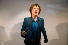 Mick Jagger in Grevin museum of the wax figures in Prague. Royalty Free Stock Photos