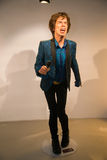 Mick Jagger in Grevin museum of the wax figures in Prague. Royalty Free Stock Image