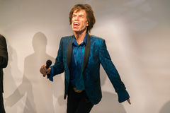 Mick Jagger in Grevin museum of the wax figures in Prague. Royalty Free Stock Images