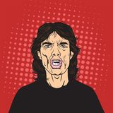 Mick Jagger Pop Art Portrait Vector. Illustration Royalty Free Stock Images