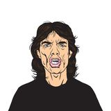 Mick Jagger Vector Portrait Illustration Stockfoto