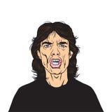 Mick Jagger Vetora Portrait Illustration ilustração royalty free