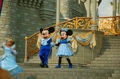 Mickey и Минни на этапе Стоковое Фото
