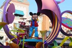 Mickey in Disneyland parade. July 23,2012 Los Angeles U.S.A. Mickey in Floats performances in disneyland Royalty Free Stock Image