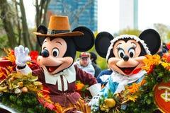 Mickey e Minnie na parada do anuário de Philly Imagens de Stock