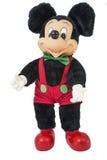 Предпосылка Уолт Дисней мыши Mickey изолированная figurine белая Стоковое Изображение