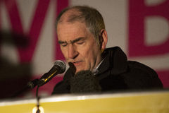 Mickey Harte speaks at Pro life Vigil Stock Images