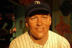 Mickey Mantle Wax Figure Lizenzfreies Stockbild