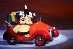 Mickey and Minnie in Disney on Ice. Mickey and Minnie Mouse in the show Disney On Ice; on tour now Royalty Free Stock Image