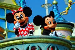 Mickey and minnie mouse. Greeting visitors and disnelyland in hong kong Stock Photos