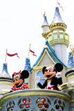 MICKEY AND MINNIE MOUSE. In Hong Kong Disnelyland Royalty Free Stock Photography