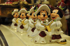 Mickey and Minnie Mouse decoration. In Christmas in Disney Store Stock Images