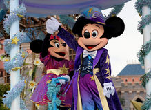 Mickey and Minnie. Mickey mouse and Minnie in the disney parade stock photography