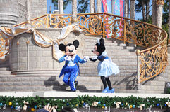 Mickey and Minnie Mouse in Disney World Royalty Free Stock Image