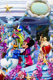 Mickey and Minnie Mouse at Disneyland Paris on parade Royalty Free Stock Images