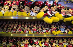Mickey and Minnie Mouse plush toys. royalty free stock images
