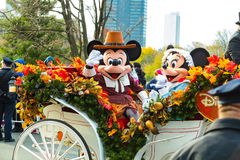 Mickey and Minnie in Philly Parade. Philadelphia, PA - November 24, 2016: Mickey and Minnie Mouse ride in a carriage in the annual Thanksgiving Day parade Stock Photography